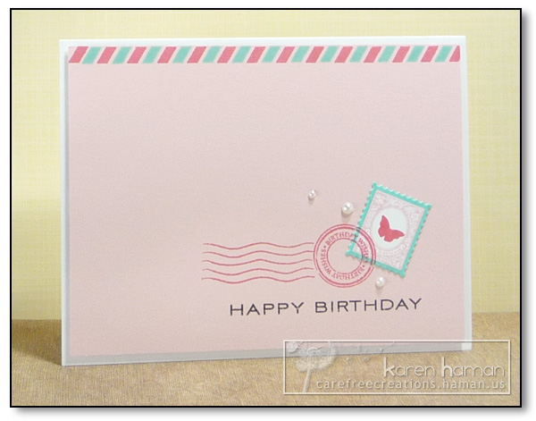 Karen @ Carefree Creations: Pink Birthday Post