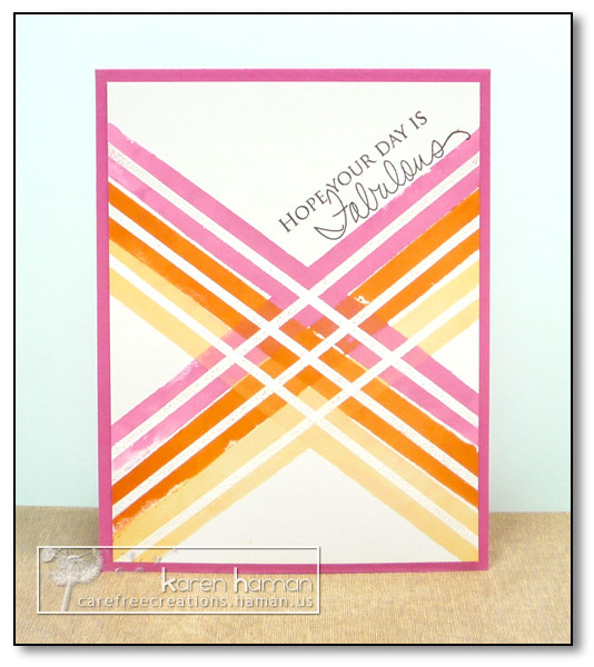 by Karen @ Carefree Creations - Bright Watercolor
