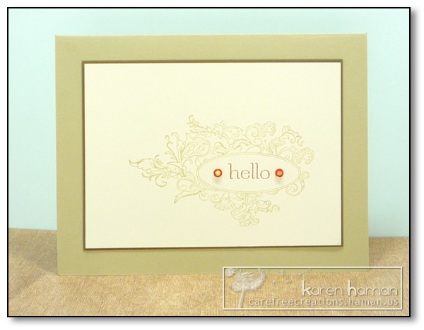 by Karen @ Carefree Creations - Framed Hello