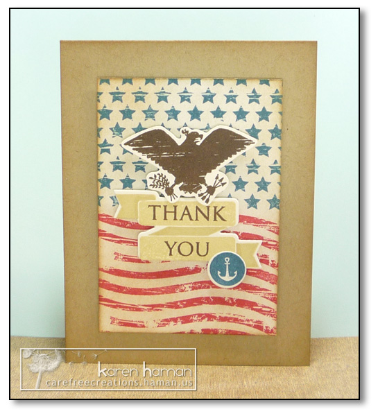 by Karen @ Carefree Creations - Military Thanks