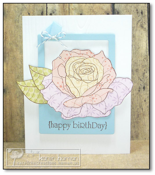 by Karen @ carefree creations - Pieced Rose