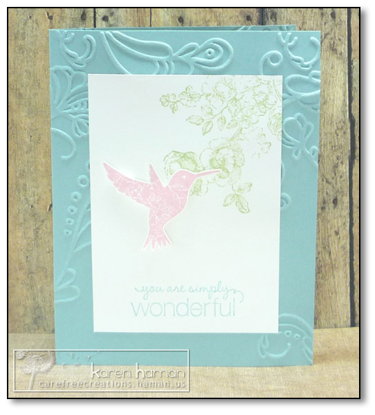 by Karen @ carefree creations - You Are Wonderful