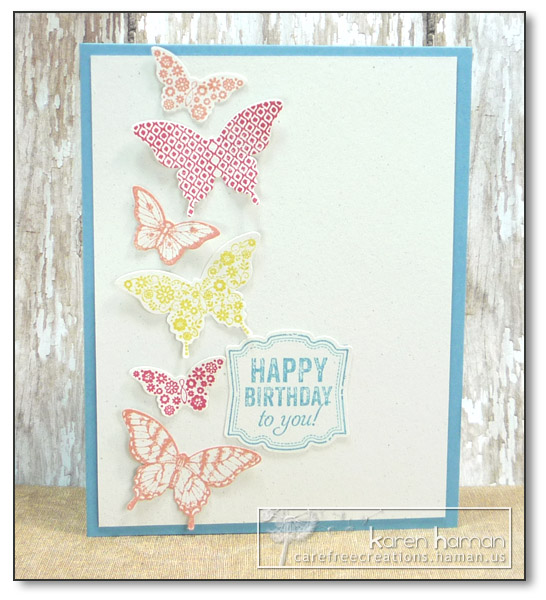 by Karen @ carefree creations - Sherbet Butterflies