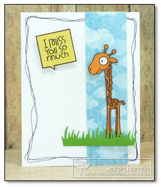 by Karen @ carefree creations - Giraffe Longing