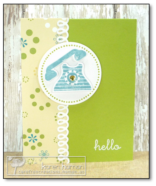 by Karen @ carefree creations - Telephone