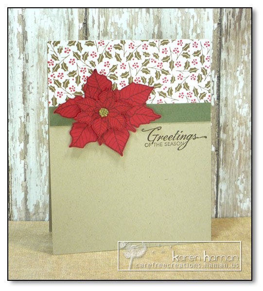 by Karen @ carefree creations - Christmas Poinsettia