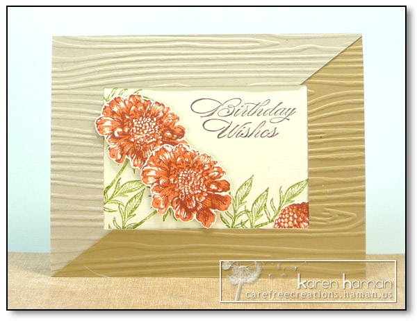 by karen @ carefree creations - Autumn Flowers