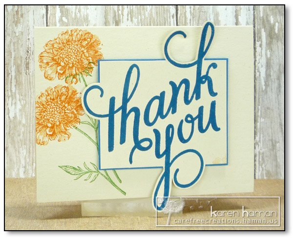 by karen @ carefree creations - Thank You Flowers