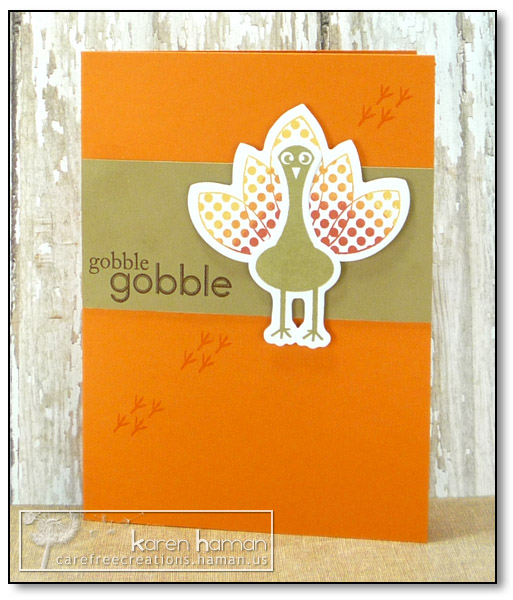 by karen @ carefree creations - Gobble Turkey