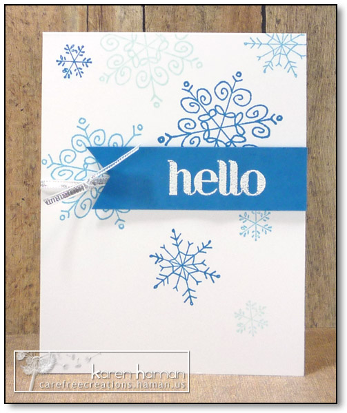 by karen @ carefree creations - Winter Hello