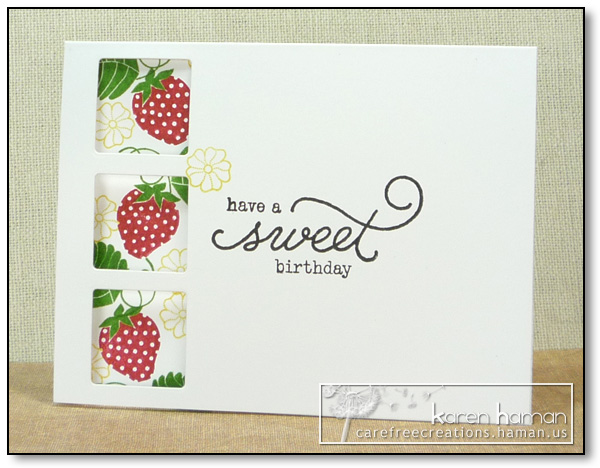 by karen @ carefree creations - Sweet Birthday