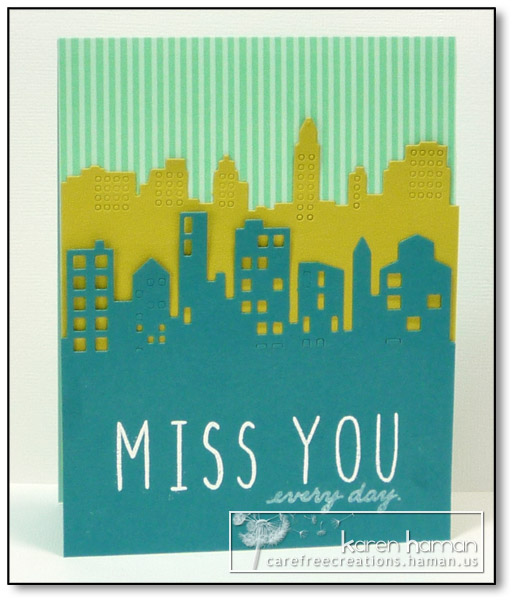 Miss You Cityscape by karen @ carefree creations