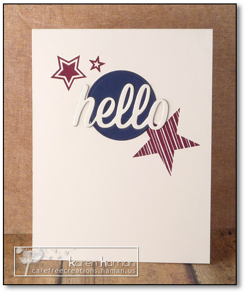 Patriotic Hello - by karen @ carefree creations