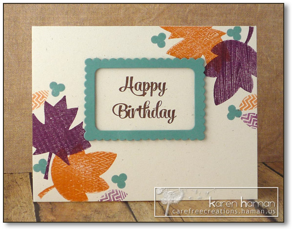 Autumn Birthday Leaves - by karen @ carefree creations