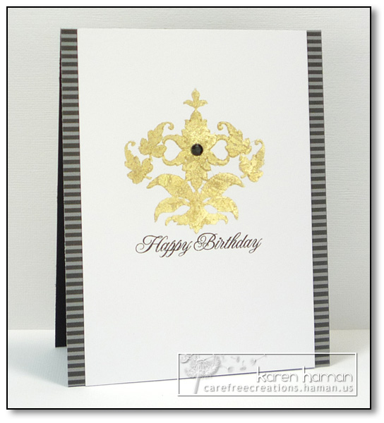 Foiled Sophistication - by karen @ carefree creations