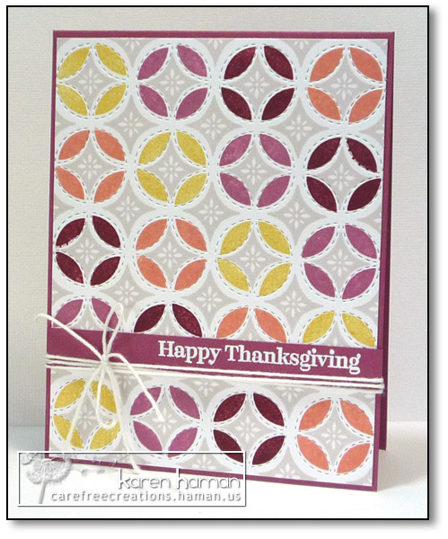 Thanksgiving Quilt - by karen @ carefree creations