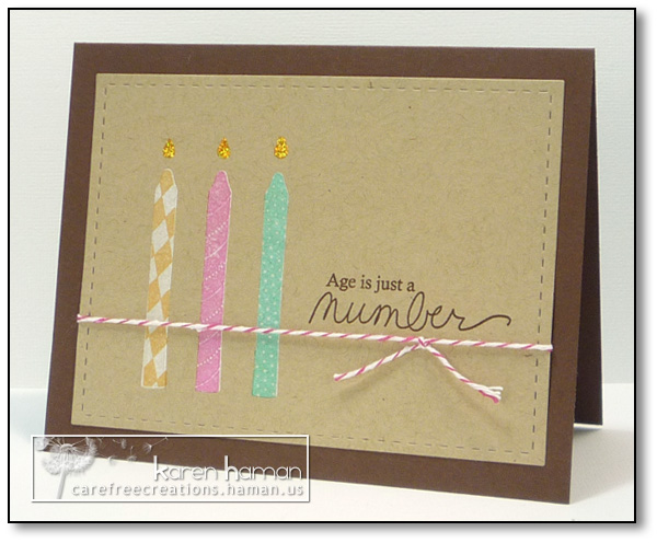 Age is Just a Number | karen @ carefree creations