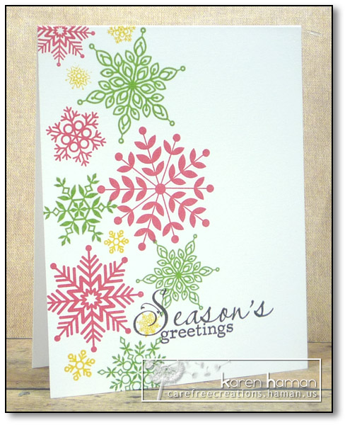 Red & Green Snowflakes | by karen @ carefree creations