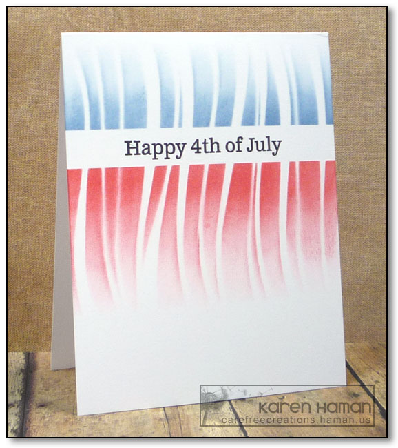 Stenciling for the Fourth | by karen @ carefree creations