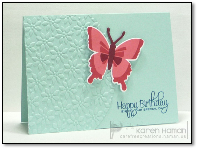 Bold Butterfly   by karen @ carefree creations