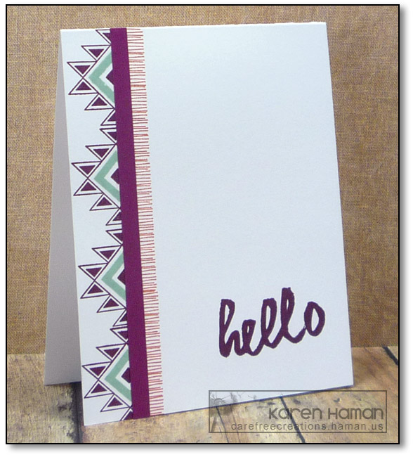 Southwest Hello   by karen @ carefree creations