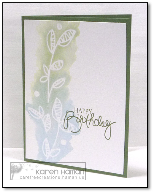 Masked Leaves   by karen @ carefree creations