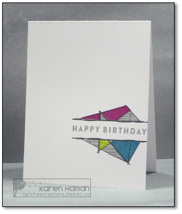 Geometric Birthday | by karen @ carefree creations