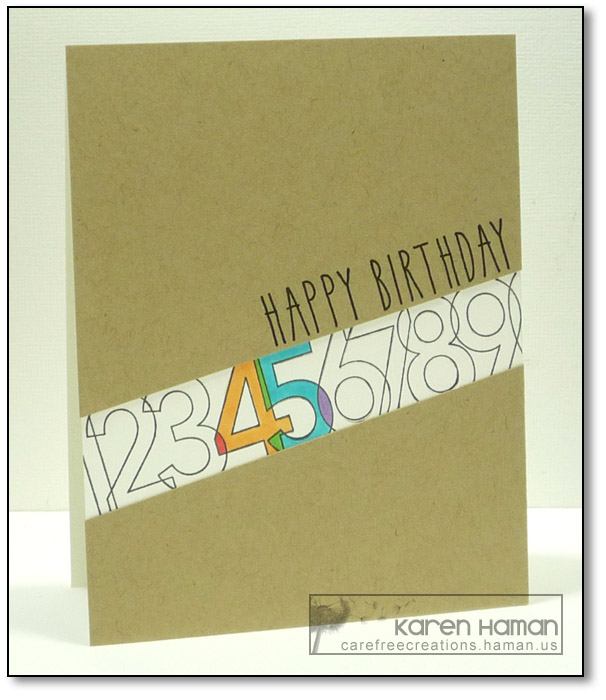 Birthday Numbers | by karen @ carefree creations